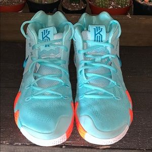 KYRIE 4 along with orange laces they came with,